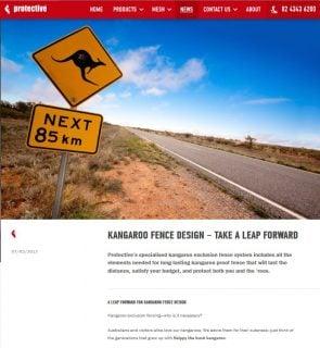 Kangaroo fence