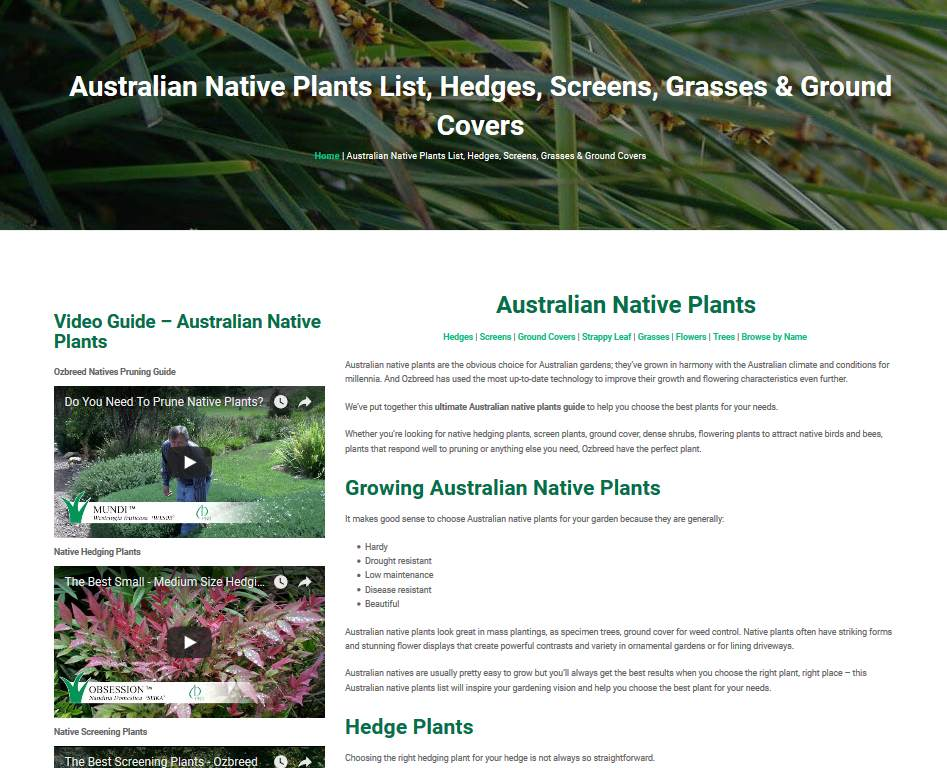 Native plants