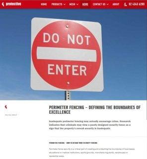 Perimeter fencingpart