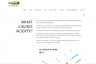 vinrac acidity