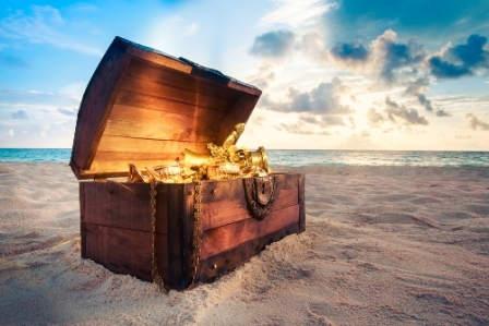 Treasure chest French language blog